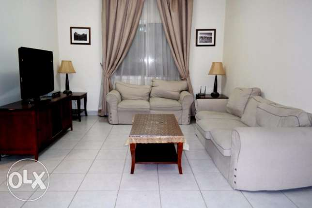 include w & e..f/f 2 bhk apartment at bin omran..pool,gym
