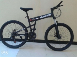 Brand new HUMMER 21 speed Shimano, folding