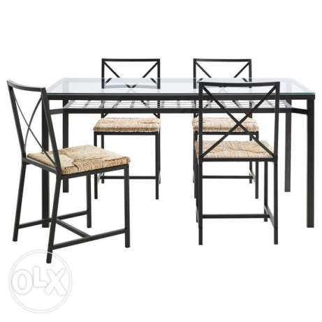 IKEA glass Table with 4 Chair
