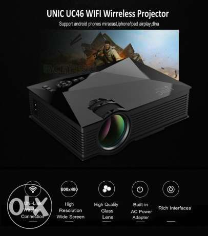 LED projector with Remote control and Wifi Certified