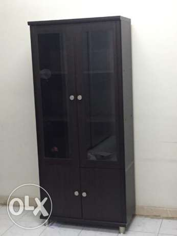 Cupboard with glass doors for sale