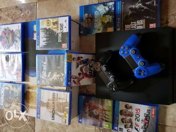PlayStation 4 500gb With 11 Games & 2 Controllers for sale