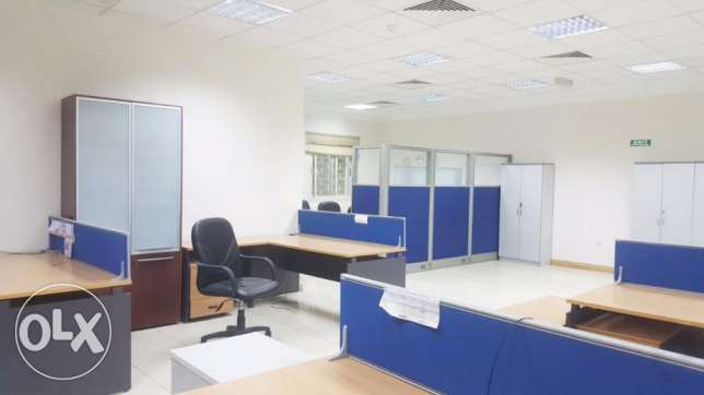 Fully-Furnished Open Space office In D-Ring Road
