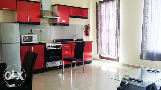 Fully-Furnished, 1-Bedroom Apartment in Muaither معيذر‎ -  2