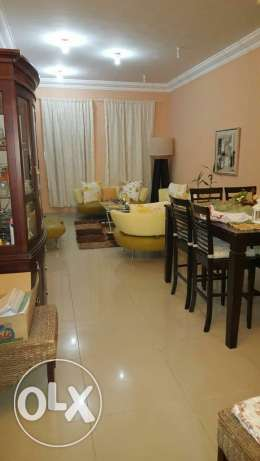 Big flat nice location ALduhail full furnished incloudet w. eilc