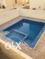 Unfurnished 3-BHK Villa in Ain Khaled-Gym-Pool