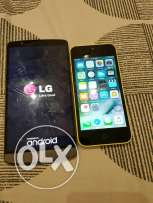 iPhone 5C 16GB & LG3 both 850 good conditions note's. #iPhone some tim