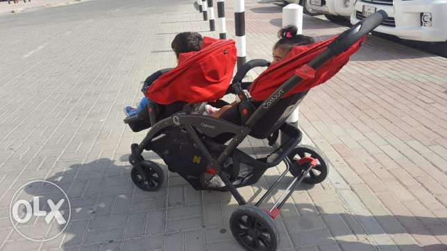 Double seated baby stroller