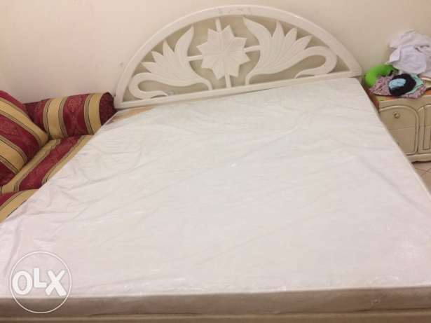 King size bed, sofa and dining table with 4 chairs for urgent sale