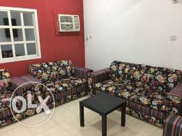 Semi furnished flat for rent for family