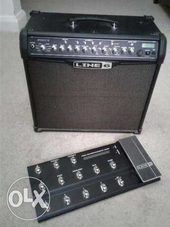 Guitar amplifier Line 6 Spider IV 75 with Shortboard MkII