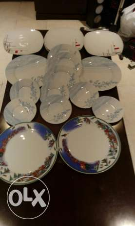 mix Plates and dishes for sale