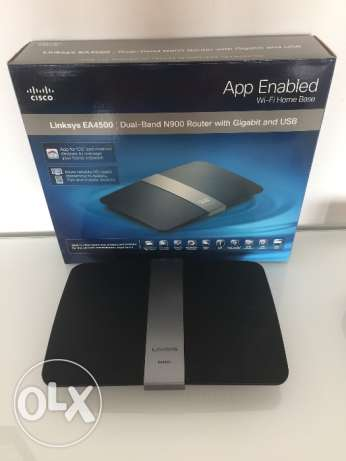 Cisco Linksys EA4500 dual band N-900 Router with gigabit and USB