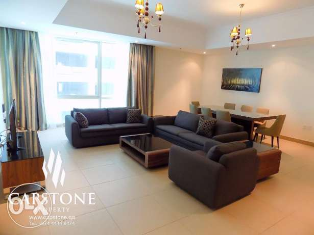 Fully-furnished 3BR plus 1 Maid's Room, Apartment in West Bay