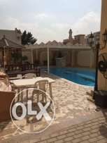 Unfurnished 3-BR Villa in Old Airport-Pool+Gym - Maidsroom
