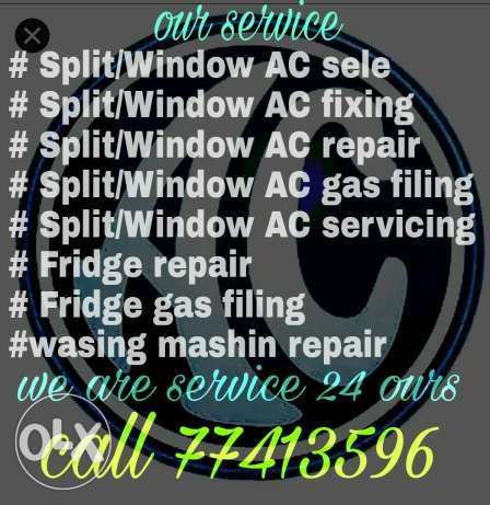 A/C sale,repair,servicing,gas filing and all maintenance.