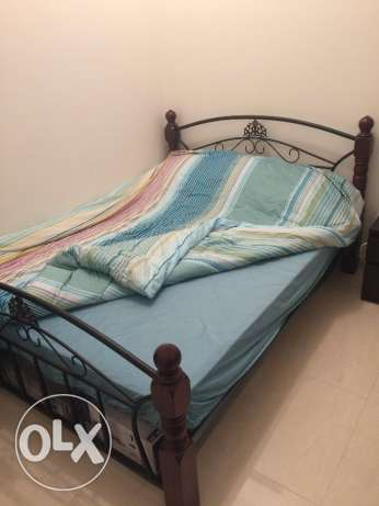 Wrought Iron Bed with new mattress