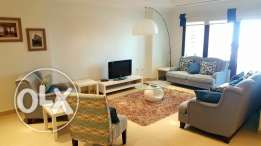 2 bedroom fully-featured apartment in pearl porto Arabia for rent