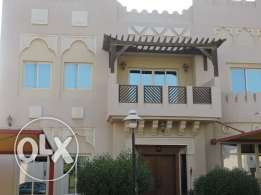Semi furnished huge 4 bedrooms + Maid's room villa in a Compound