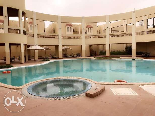 compound villa 4BHK in al-waab .SF . with swim. gym. with month free