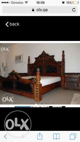 Antique design brown color bedroom furniture