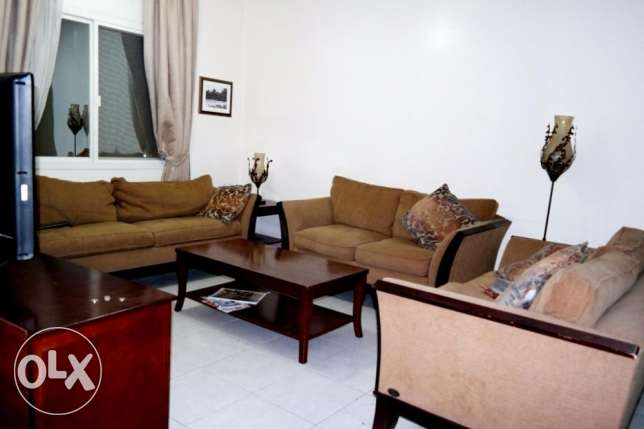 3 bedroom with big back yard fully furnished apartment at bin omran