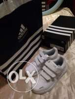 Used Once White Rubber Shoes from Adidas size 35 for Kids for Only 140