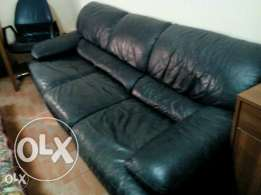 Real leather sofa for sale.Please call after 4:00pm.This is important.