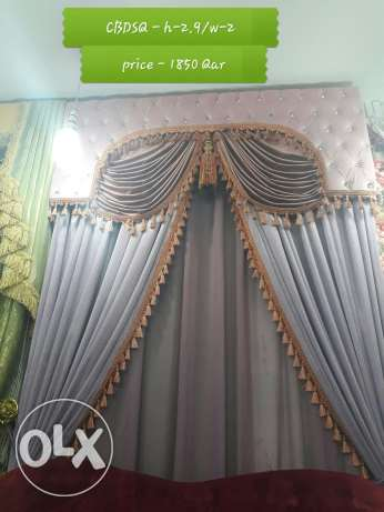 new super model curtain - box with decor
