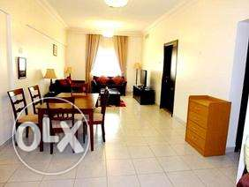 include water & e..fully furnished 3 bhk apartment in bin omran