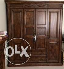 Four door cupboard with drawers x 2