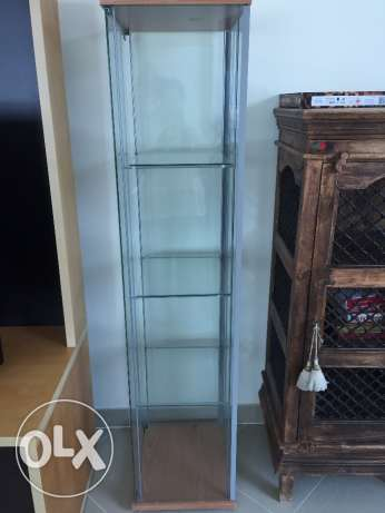 Glass Display Cabinet - VGC IKEA
