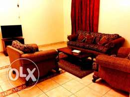 for family ..beautiful fully furnished 2 bedroom apartment in al sadd