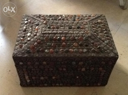 Semi-precious stone ornamental box-Jewellery box