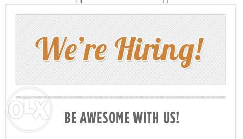 we are HIRING!!! Are you the Right CANDIDATE??!