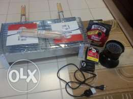 BBQ set never been used + electric stove
