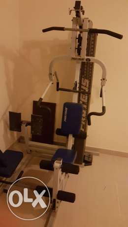 Multi home gym with 32 types of work out including leg press