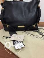 Burberry Canterbury black leather handbag