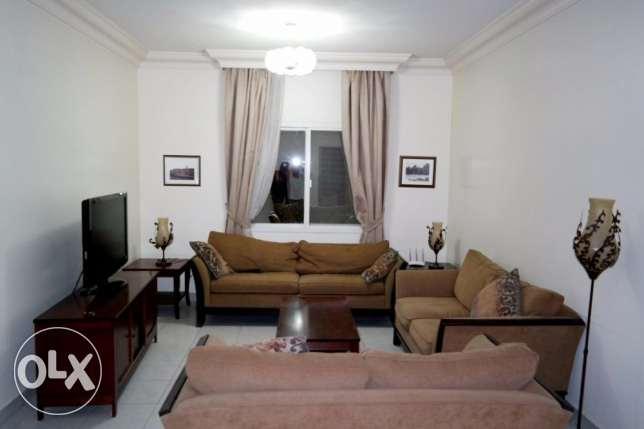3 bhk with big back yard fully furnished apartment at bin omran