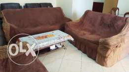 6 seater Sofa set bought from Home R Us with cover.