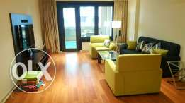 1 bed room fully furnished with big balcony in pearl