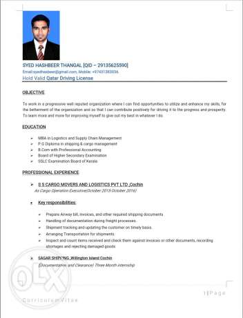 Looking For Logistics/Supply Chain Field Related Job