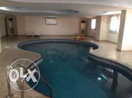Semi Furnished 3-Bedrooms Apartment in AL Sadd + Pool