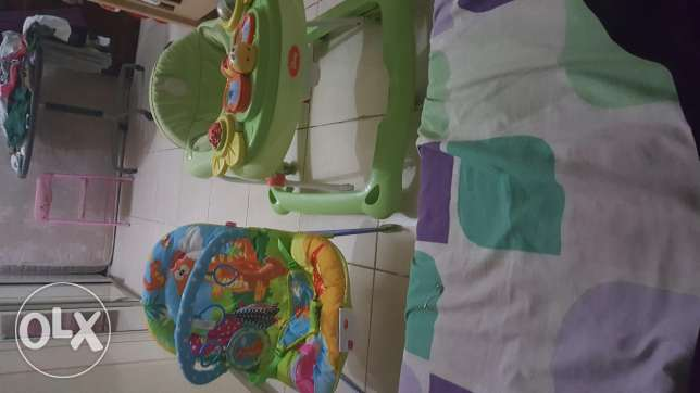 Baby bouncer and walker for sale