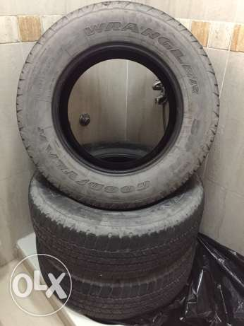 3 tires (Goodyear) for Chevrolet Taho 2015 model