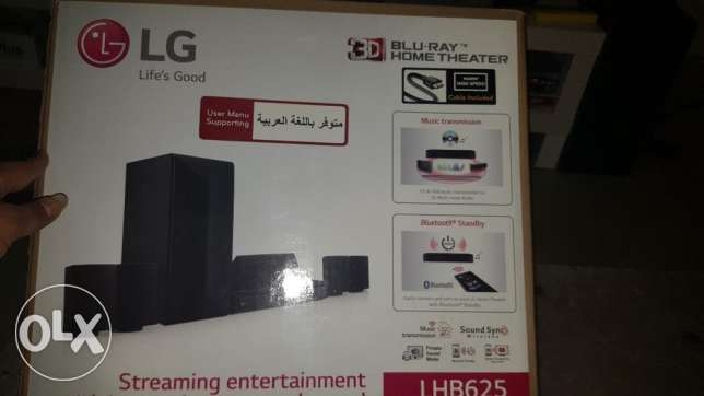 LG Home Theatre 1000W, Blue Ray 3D, Direct online Access