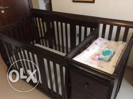 Cot with Mattress and Changing Table
