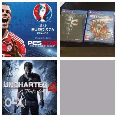 four gamed for exchange prefer ( gta - uncharted 1-2-3 - fifa