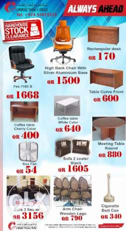Furniture Clearance Sale - Cambridge Trading & Services