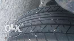 Alloy rims set with new tires